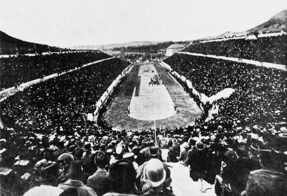 Primeira edição dos Jogos Olímpicos Modernos, em Atenas, Grécia, 1896.
